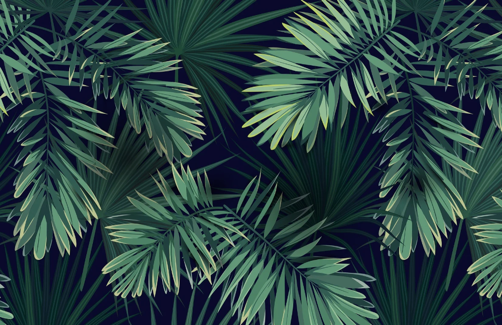 Tropical Green Plant Wallpaper Mural Murals Wallpaper In 2021 Plant Wallpaper Tropical Plants Leaf Wallpaper