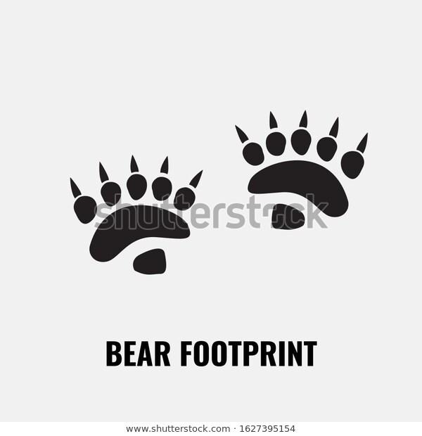 Bear Footprint Trails Front Back Footprints Stock Vector Royalty Free 1627395154 Bear Footprint Footprint Stock Vector