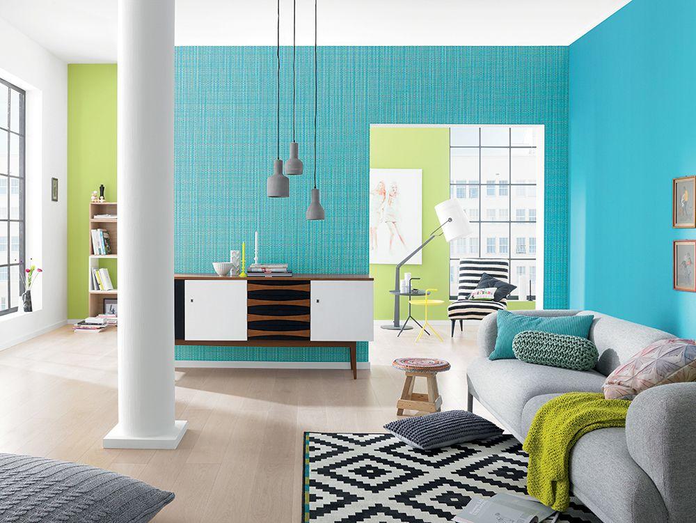 Salon Gris Et Bleu Vert