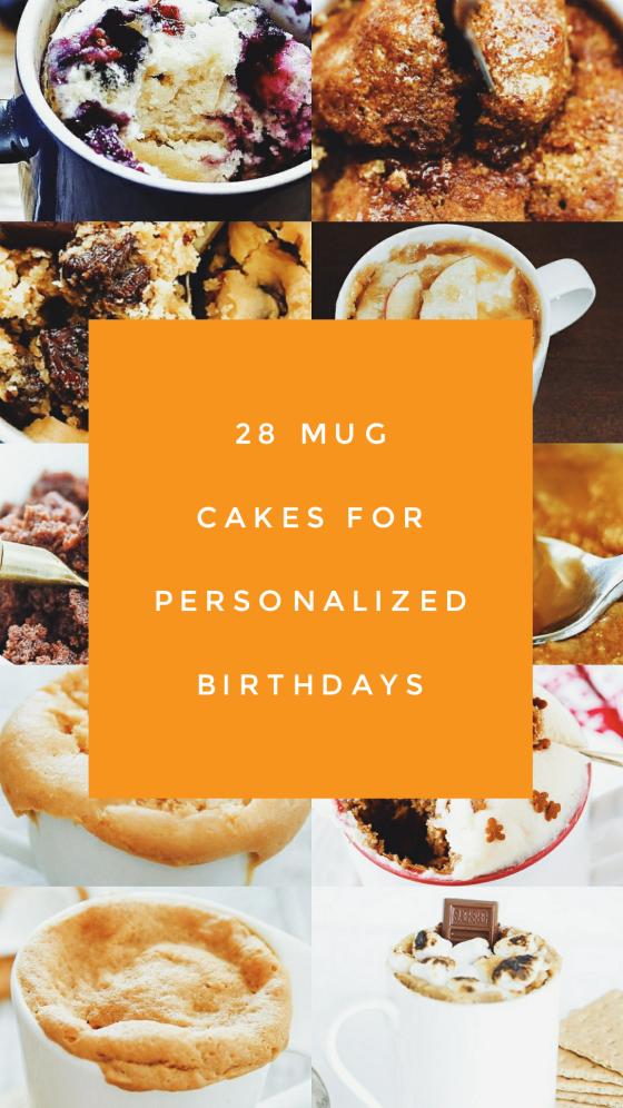 28 Mug Cakes for Personalized Birthdays #mugcake