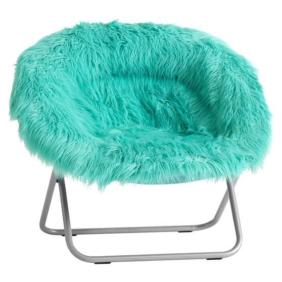 Pool Fur Rific Faux Fur Hang A Round Chair Round Chair Leather