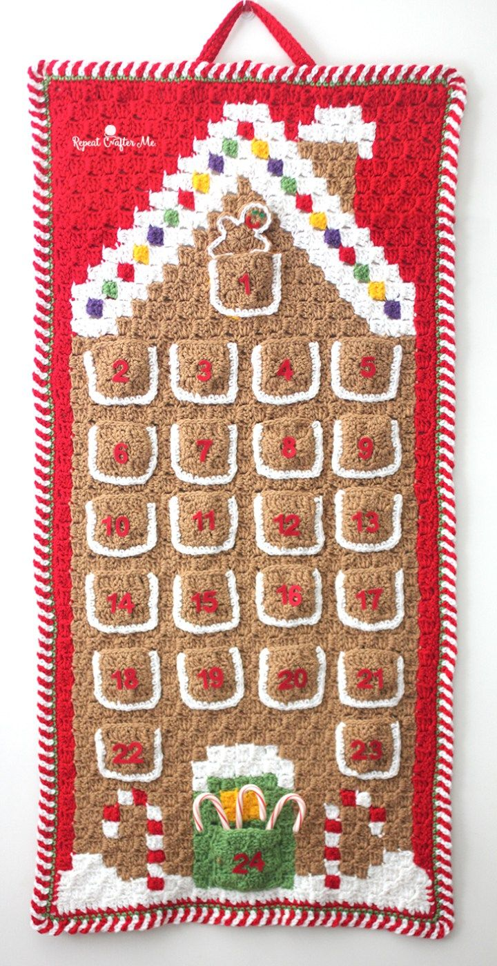 Crochet c2c gingerbread house advent calendar repeat crafter me crochet c2c gingerbread house advent calendar repeat crafter me free pattern christmas bankloansurffo Image collections