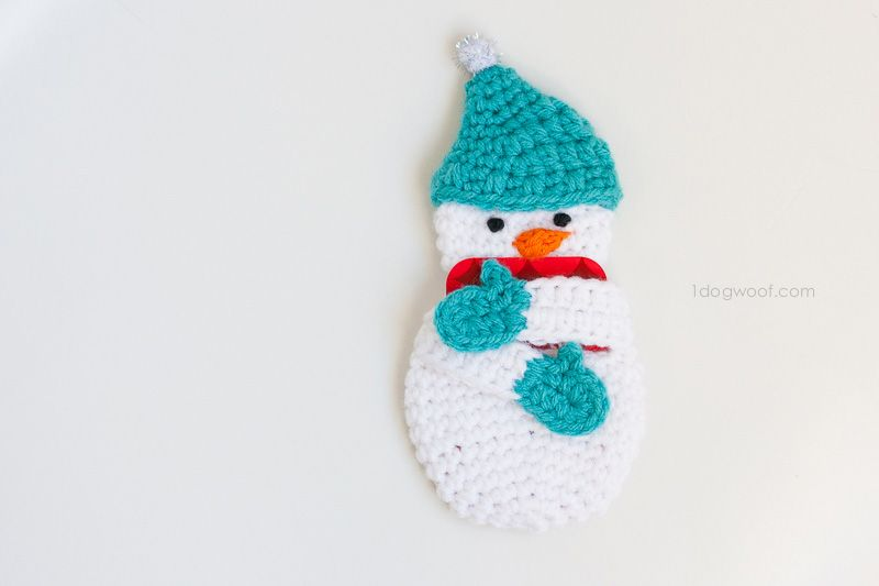 Snowman Gift Card Holder Crochet Pattern   Adornos de navidad ...