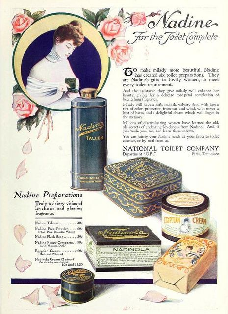 Nadine Tolietries August 1920 Vintage Beauty 1920s 1920s - 1920s-makeup-ads