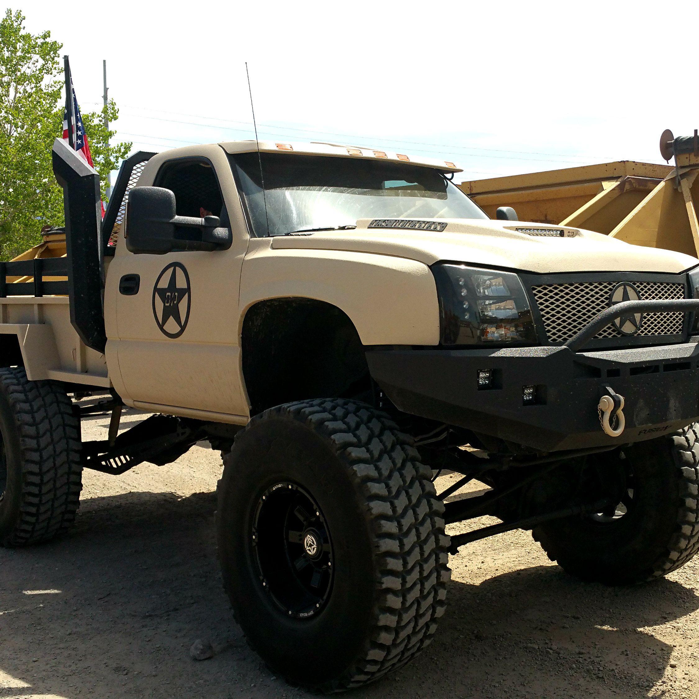 Duramax diesel single cab tan military tribute solid front axle diesel sellerz