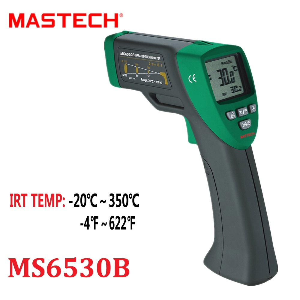 51.99$  Watch now - http://ali6lo.worldwells.pw/go.php?t=32780544858 -  Infrared Thermometer Mastech MS6530B Handheld Temperature Laser Gun 12:1(D:S) LCD Digital Thermometro Diagnostic-tool -20~320C 51.99$