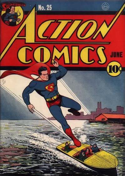 Action Comics Issue 25 - Golden Age gold starring the Man of Steel with his classic S logo