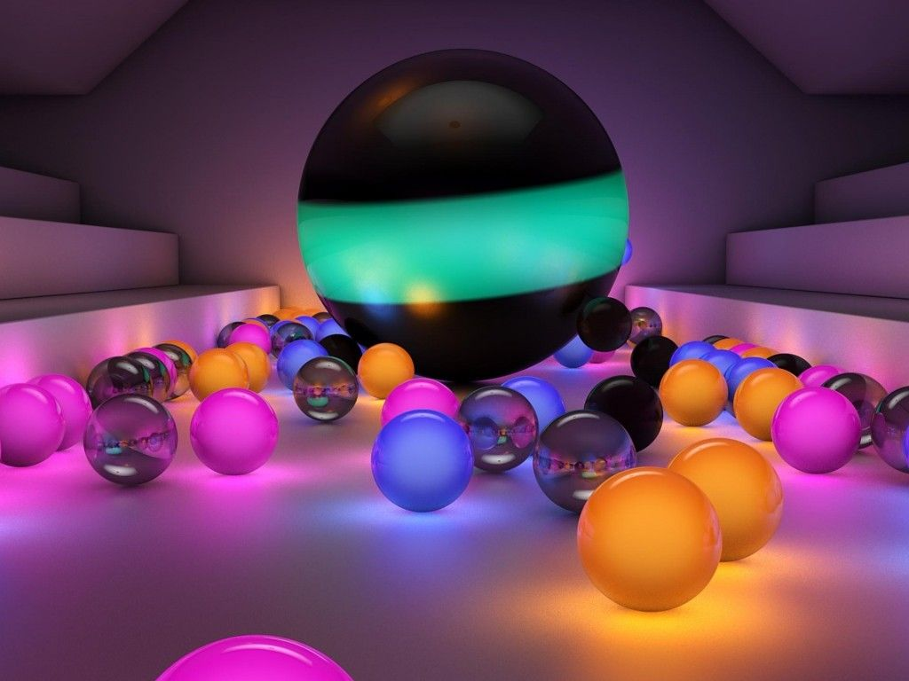 Hd Pictures Colorful 3d Glass Color Balls 1366x768 Hd Wide