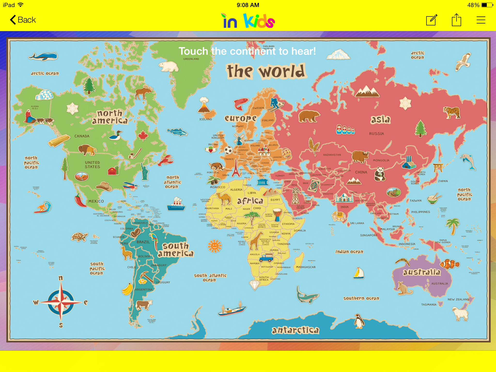 Example interactive world map to learn major continents on the example interactive world map to learn major continents on the inbound kids app gumiabroncs Choice Image