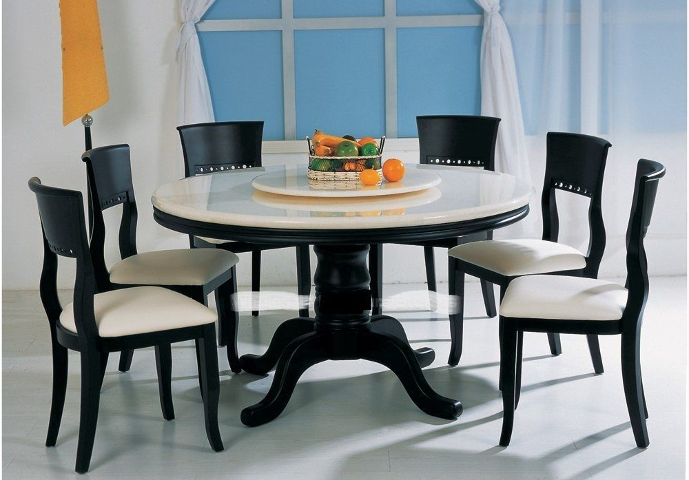 Elegant Round Dining Table For 6 Contemporary Round Marble