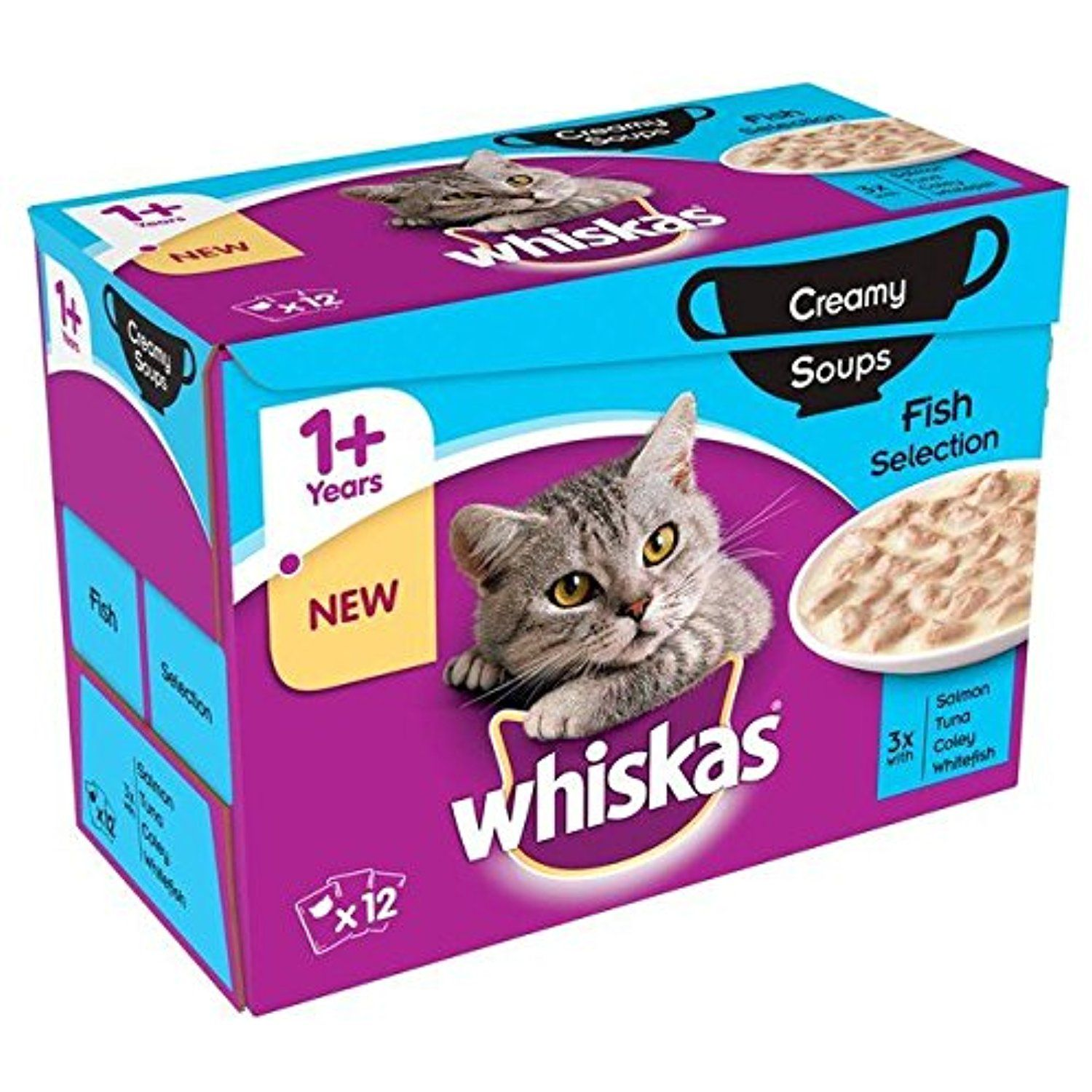 Whiskas 1 Cat Pouch Creamy Soup Fish 12 X 85g Want To Know More