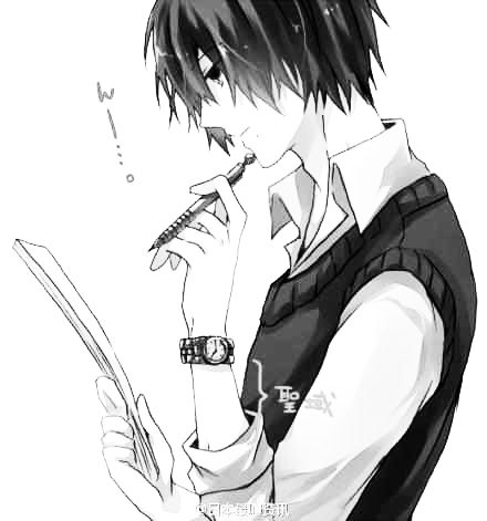 Manga Boy Imagine That He S Thinking What To Write In A Love Letter To His Crush But Can T Decide Cause He Loves Them For So Anime Manga Anime Anime Lovers