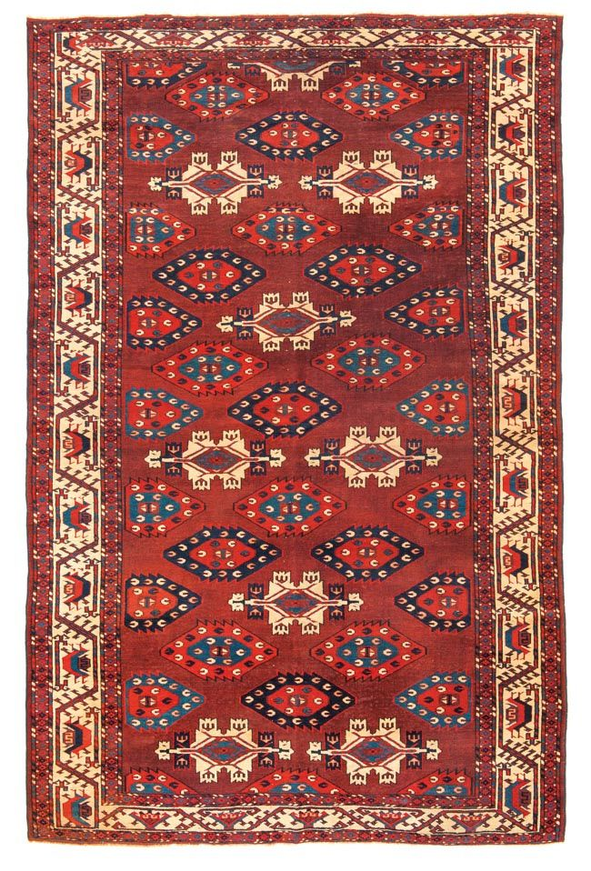 Yomud Multi Gul Main Carpet Turkmenistan First Half 19th Century