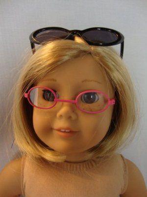 girl pink glasses Black