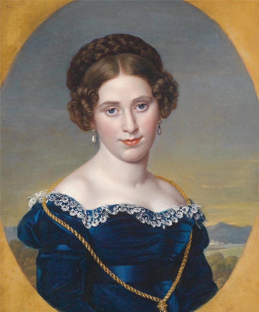 Eduard Friedrick Leybold (1798-1879)   —  Portrait of a Lady Set Against a Landscape, 1822 (830x998)