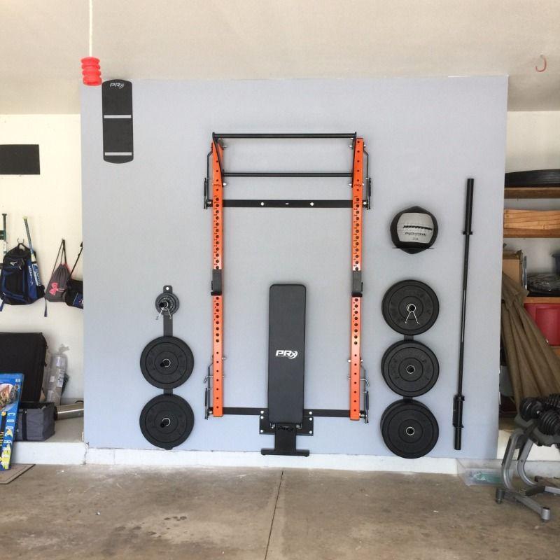 Extreme Home Makeover Garage Gym Edition SpaceSavingSquatRack