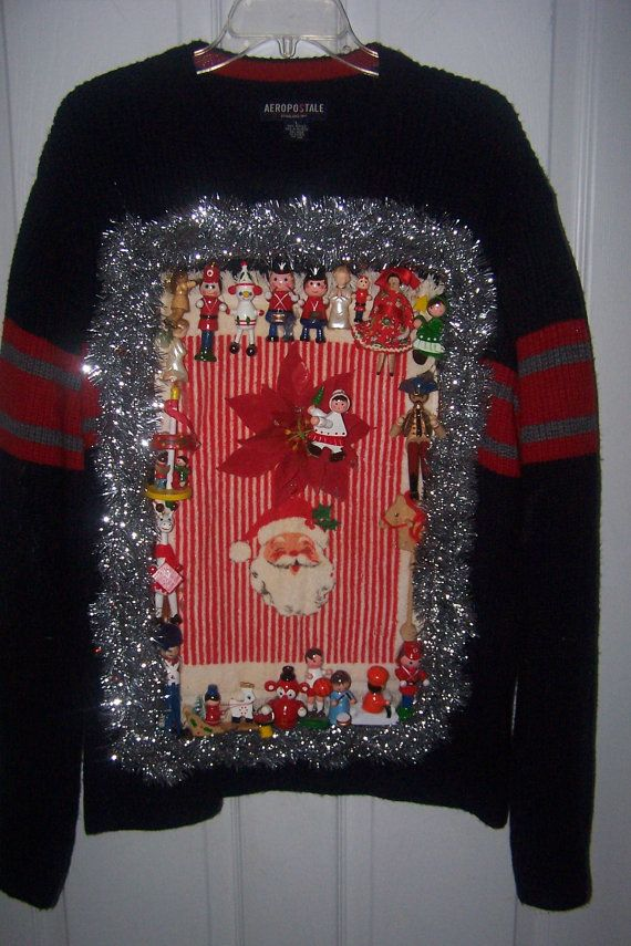 Tinsel Ugly Christmas Sweater on Etsy Christmas Pinterest