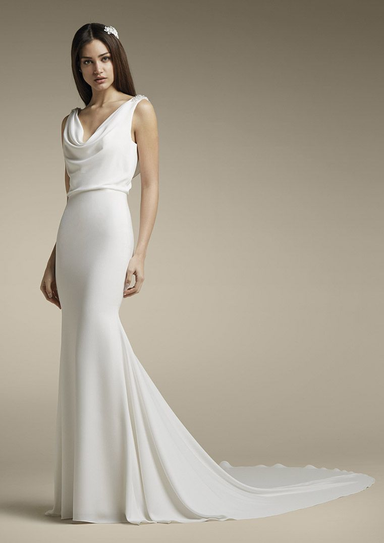 Albane In 2020 Wedding Dresses Wedding Dress Necklines