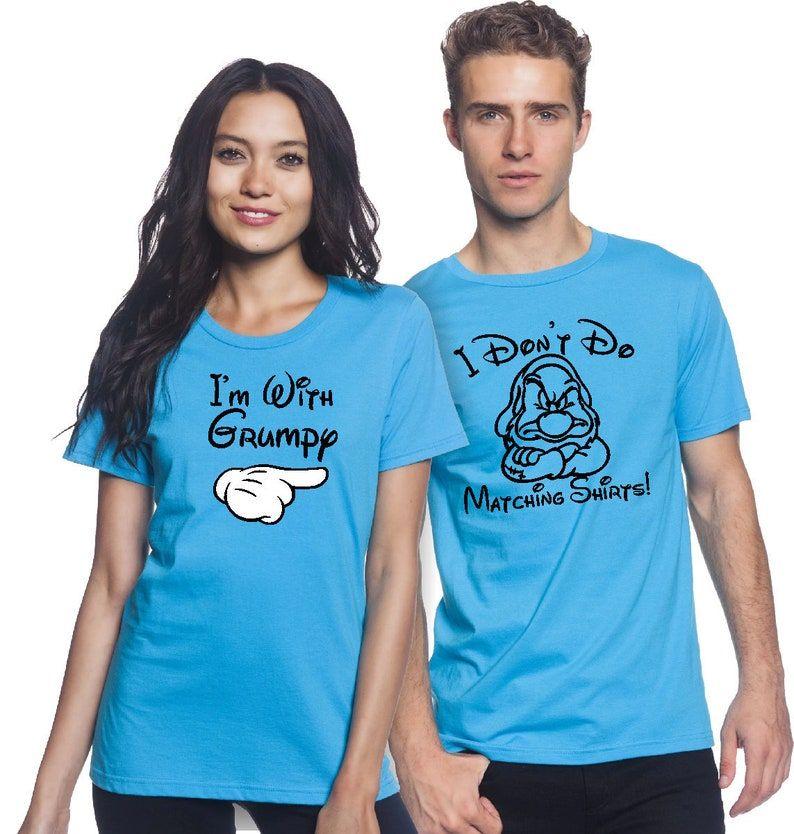 Disney Couple Shirts/ I Dont Do Matching Shirts/ Im With   Etsy