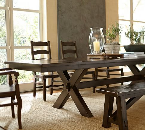 Toscana Extending Dining Table Alfresco Brown