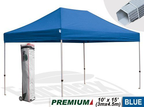 New Eurmax 10x15 Blue Pop Up Commercial Canopy Tent Gazebo With