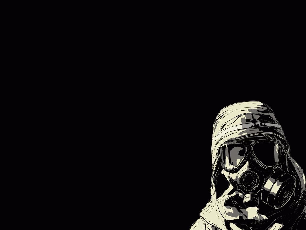 gas mask art hd desktop wallpaper high definition mobile hd