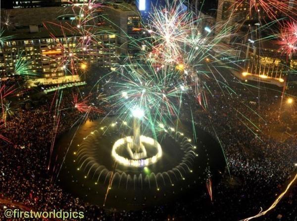 Grandindo Grand Indonesia New Year S Eve On Jakarta Indonesia Indonesia Selamat Tahun Baru