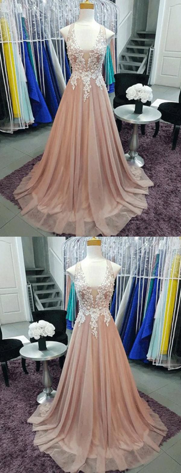 Cheap light vneck prom dresses evening dress long evening dress a