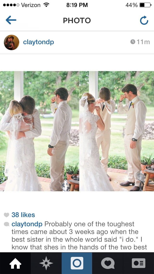 bride and her brothers// I'm still crying... it's so precious