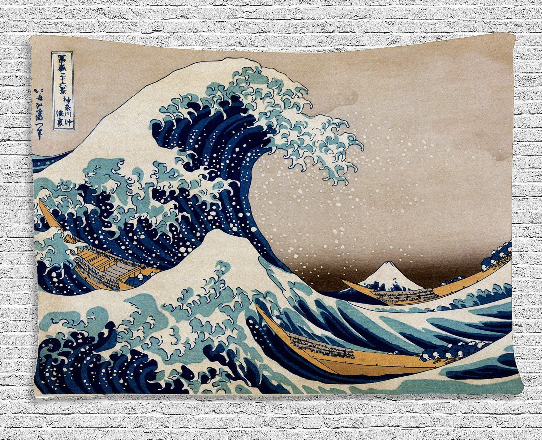 b8deb7dba4e1 Japanese artist hokusai painting jpg 1500x1216 Mount fuji antique japanese  tapestry