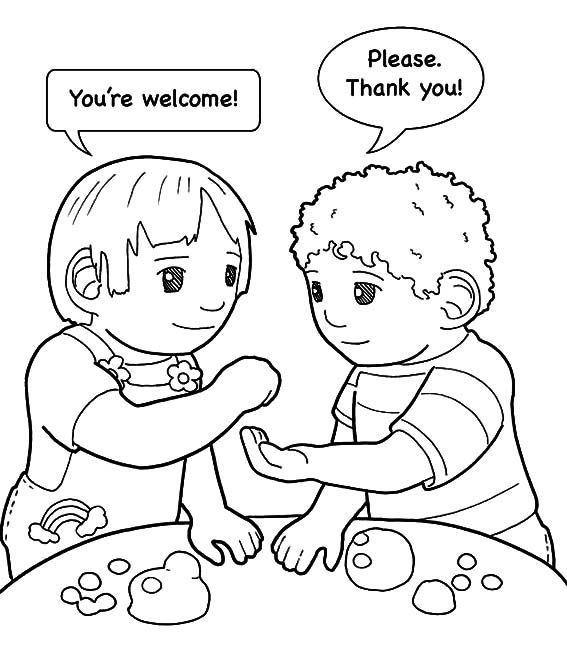 Kindness Is Helping Friend Coloring Pages With Images Kids