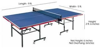 Table Tennis Table Dimension Ping Pong Table Table Dimensions Ping Pong
