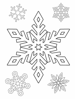 Snowflakes Coloring Page X