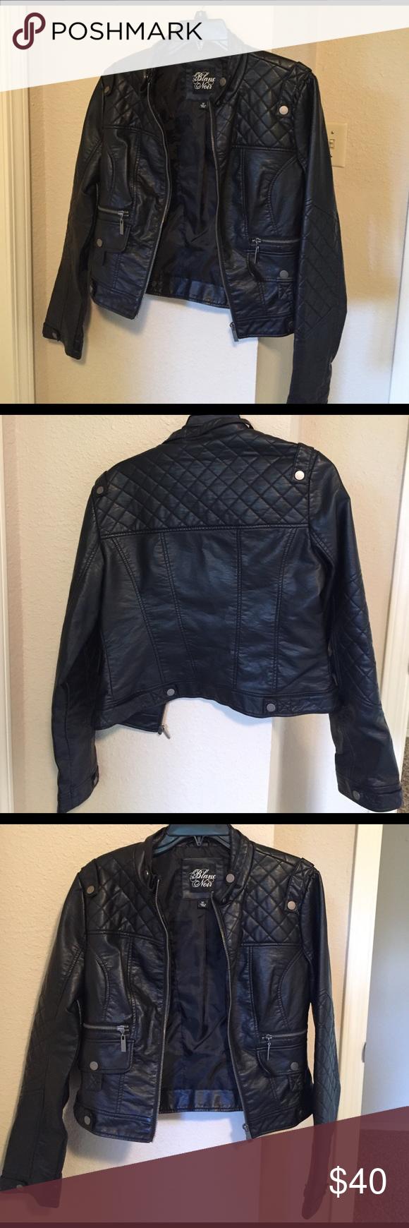 Jacket Super cute never worn faux leather crop moto jacket. Jackets & Coats