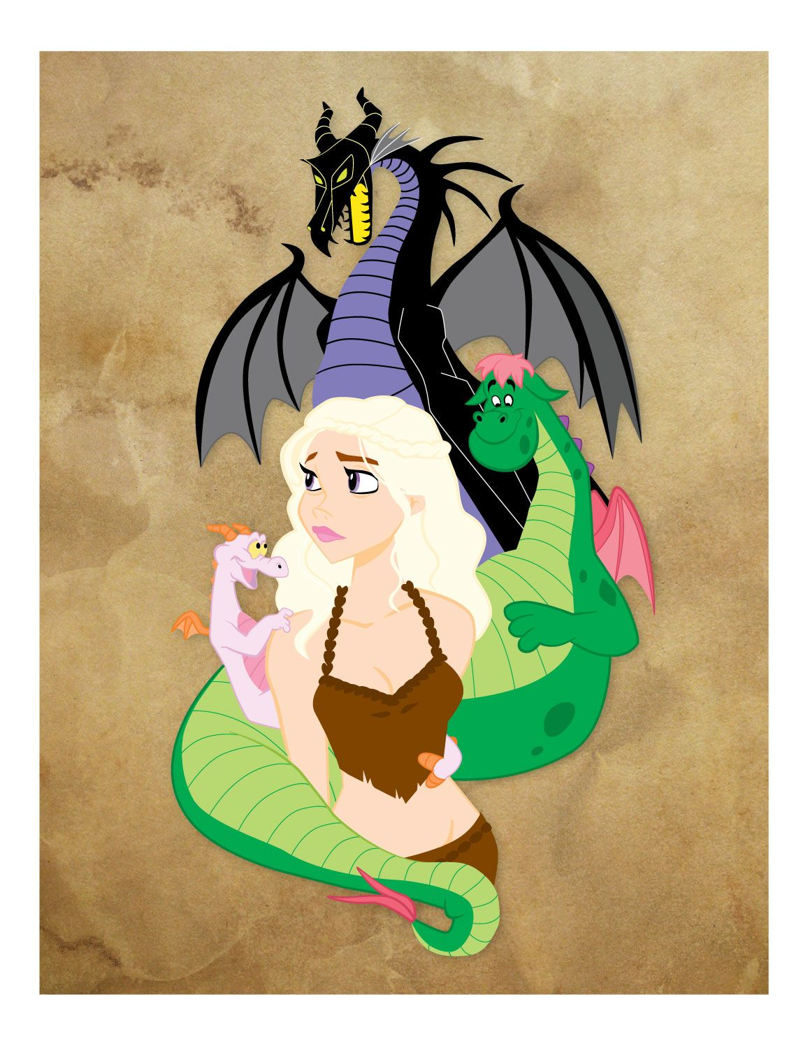 The Mother of Dragons, Game of Thrones image by Mona Collentine.