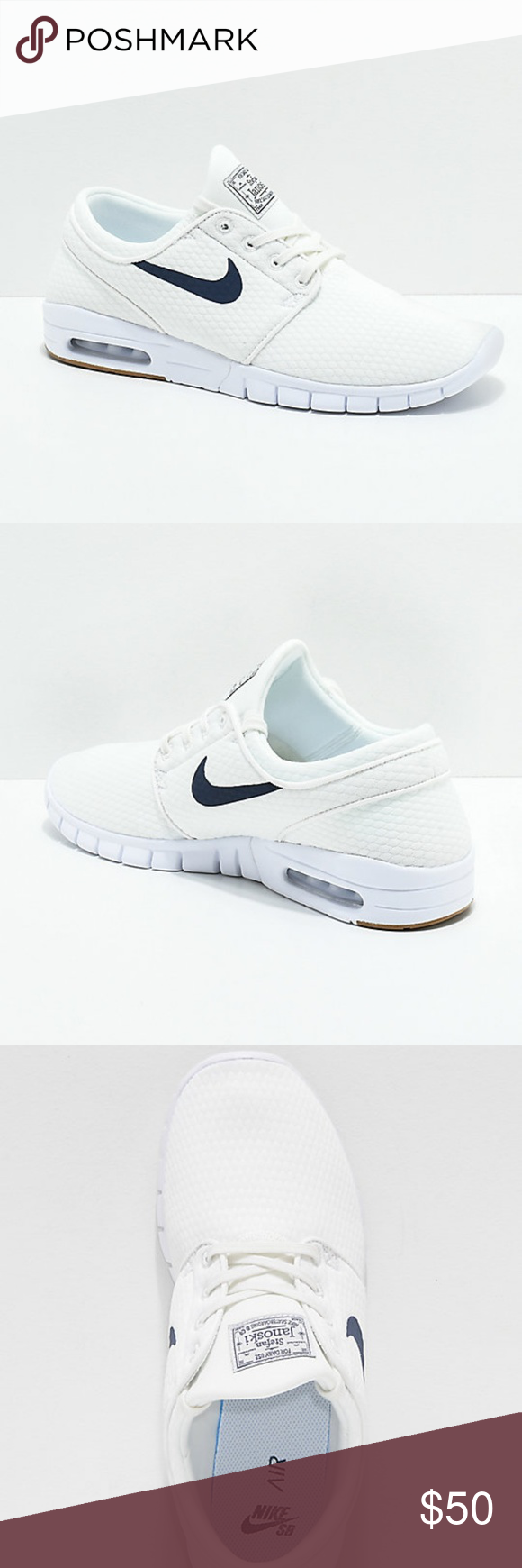 fd3677a05bce Nike SB Janoski Air Max Quilted Skate Shoes Nike SB Janoski Air Max Quilted  Summit White