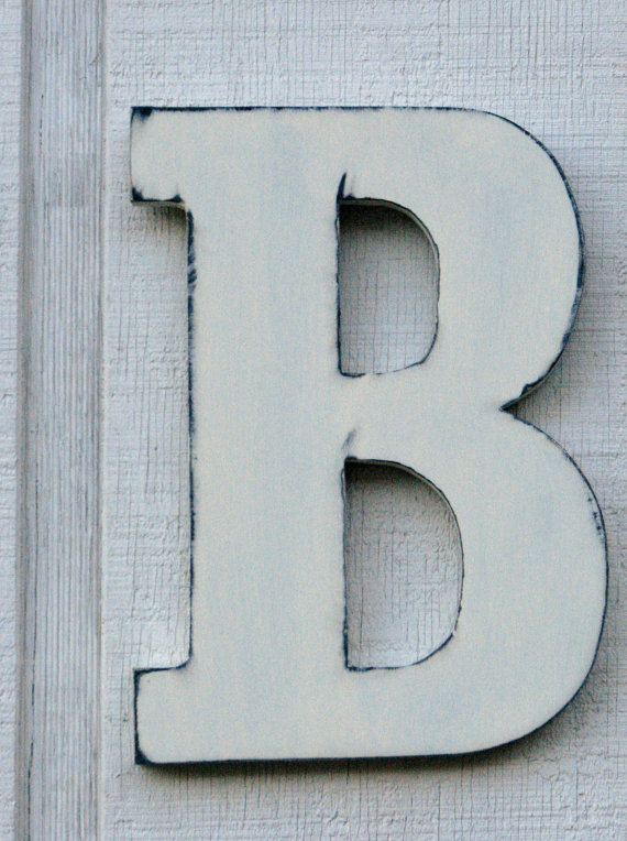 Large Vintage Wooden Letters Wooden Thing