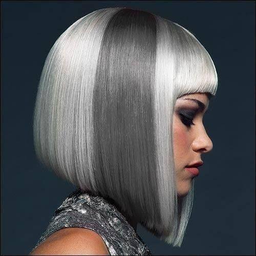 cabellos blancos y grises en melena mediana y corta - Buscar con Google