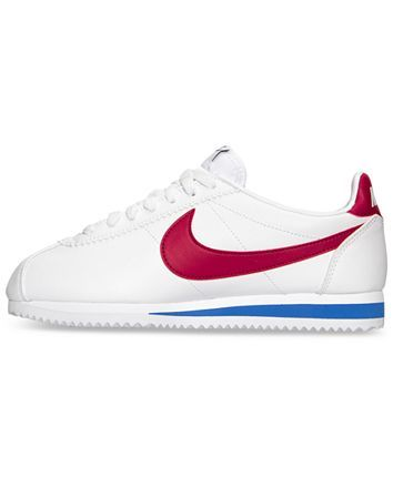 nike women's classic cortez leather casual sneakers from