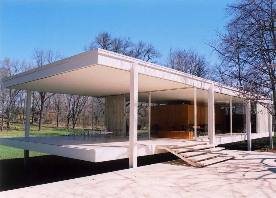 Plano Il Farnsworth House Design Information Alliance Ideas For Our House Pinterest