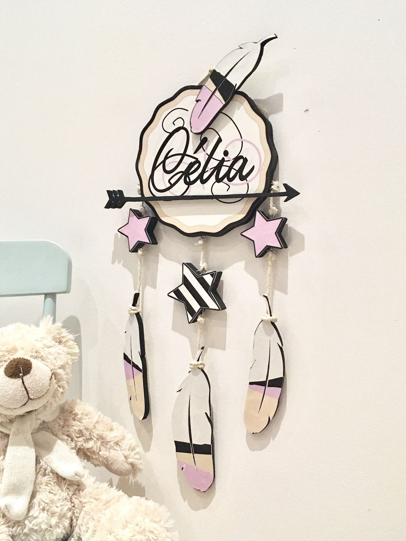 d coration lettre pr nom chambre enfant b b attrape r ve. Black Bedroom Furniture Sets. Home Design Ideas