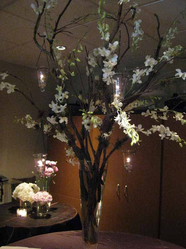 Tall wedding floral centerpieces back table that s