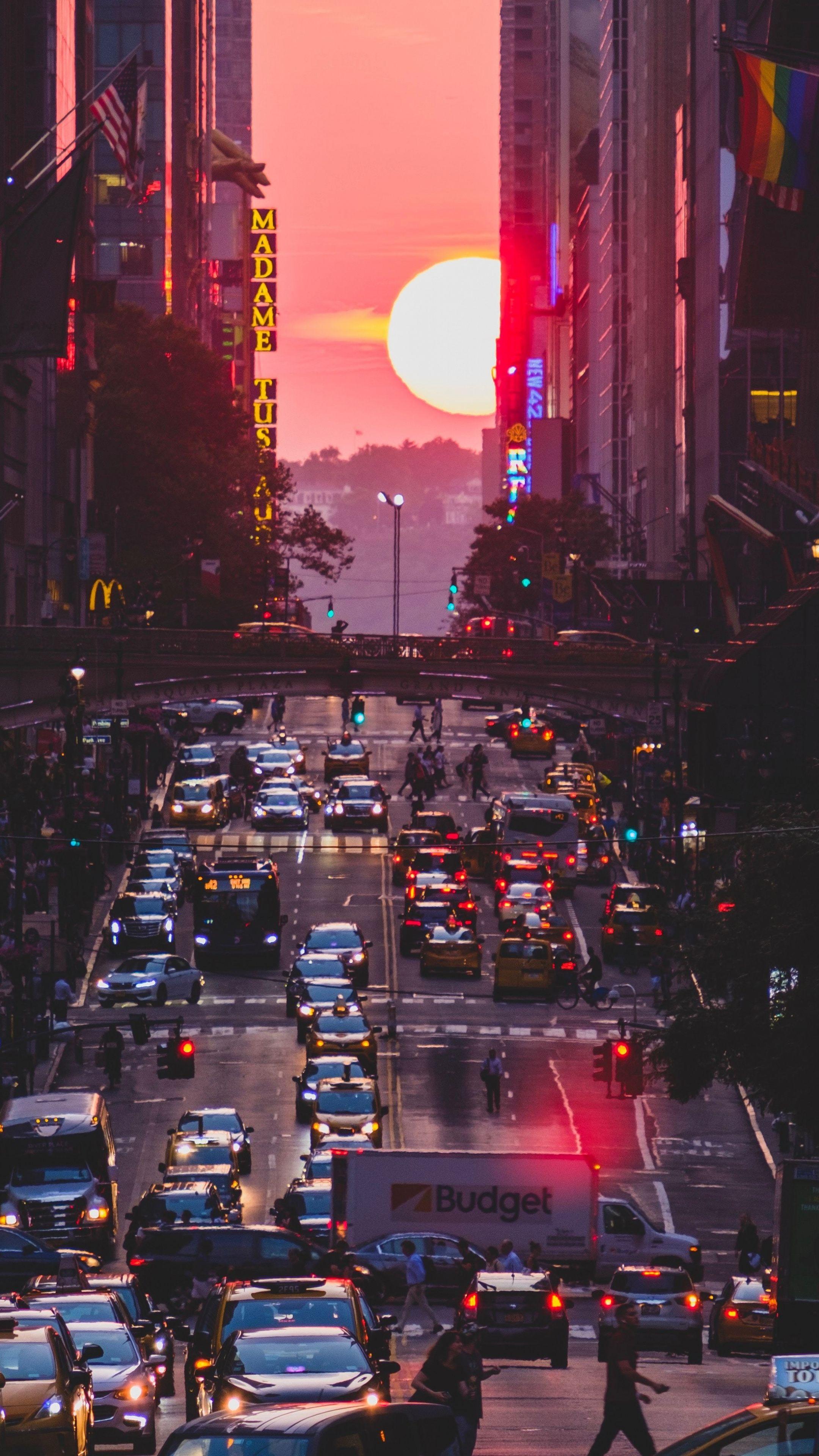 2160x3840 Sunset Metropolis City Buildings Wallpaper Sunset City City Wallpaper Sunset Wallpaper