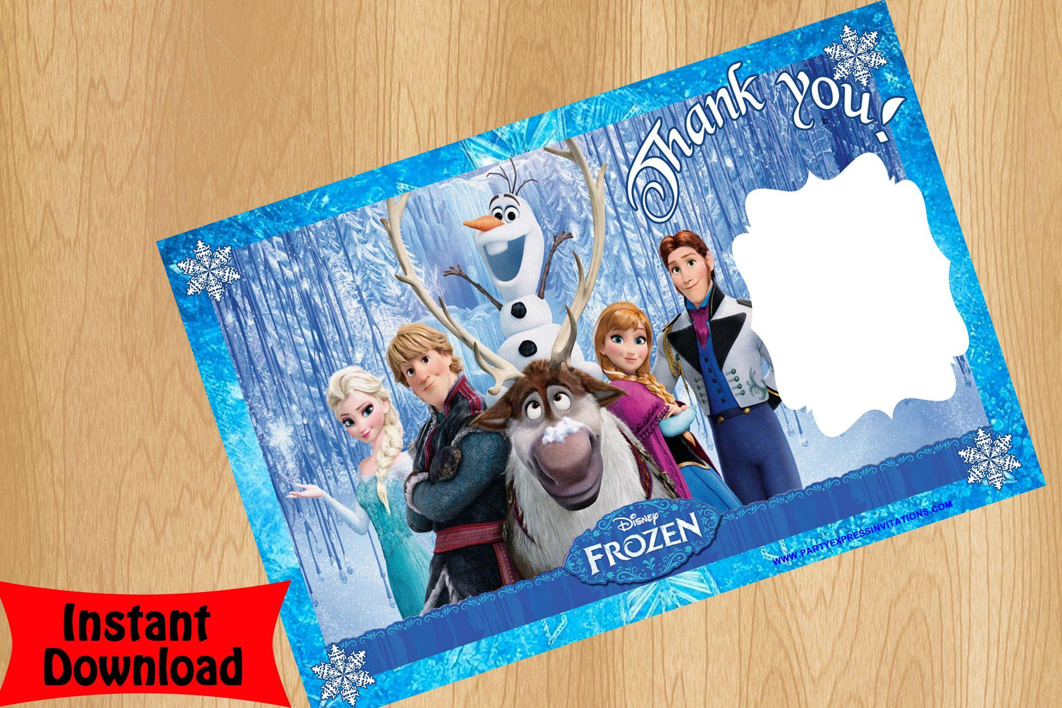 Disney Frozen Movie Thank you card   Disney Frozen Movie Birthday ...