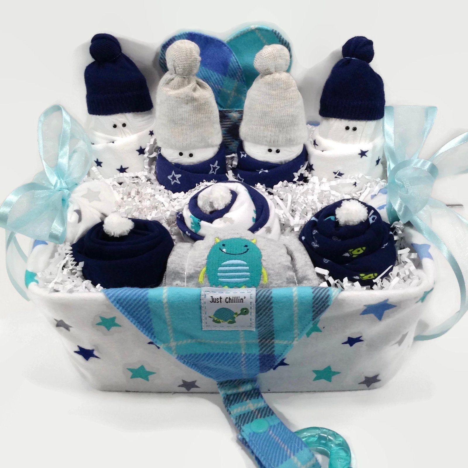 Baby boy gift basket new mom gift basket baby shower gift