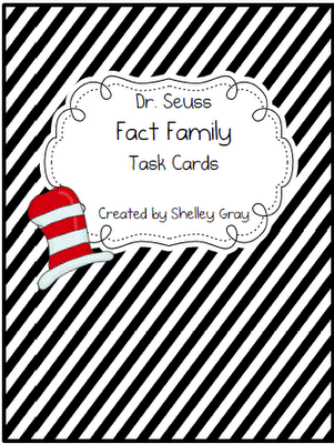 Dr. Seuss Fact Family Task Cards