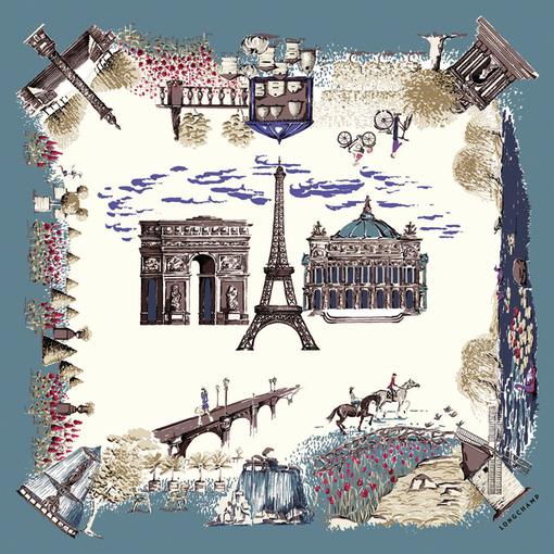 Carré 'Jardin de Paris' - Longchamp - Argile - Longchamp France