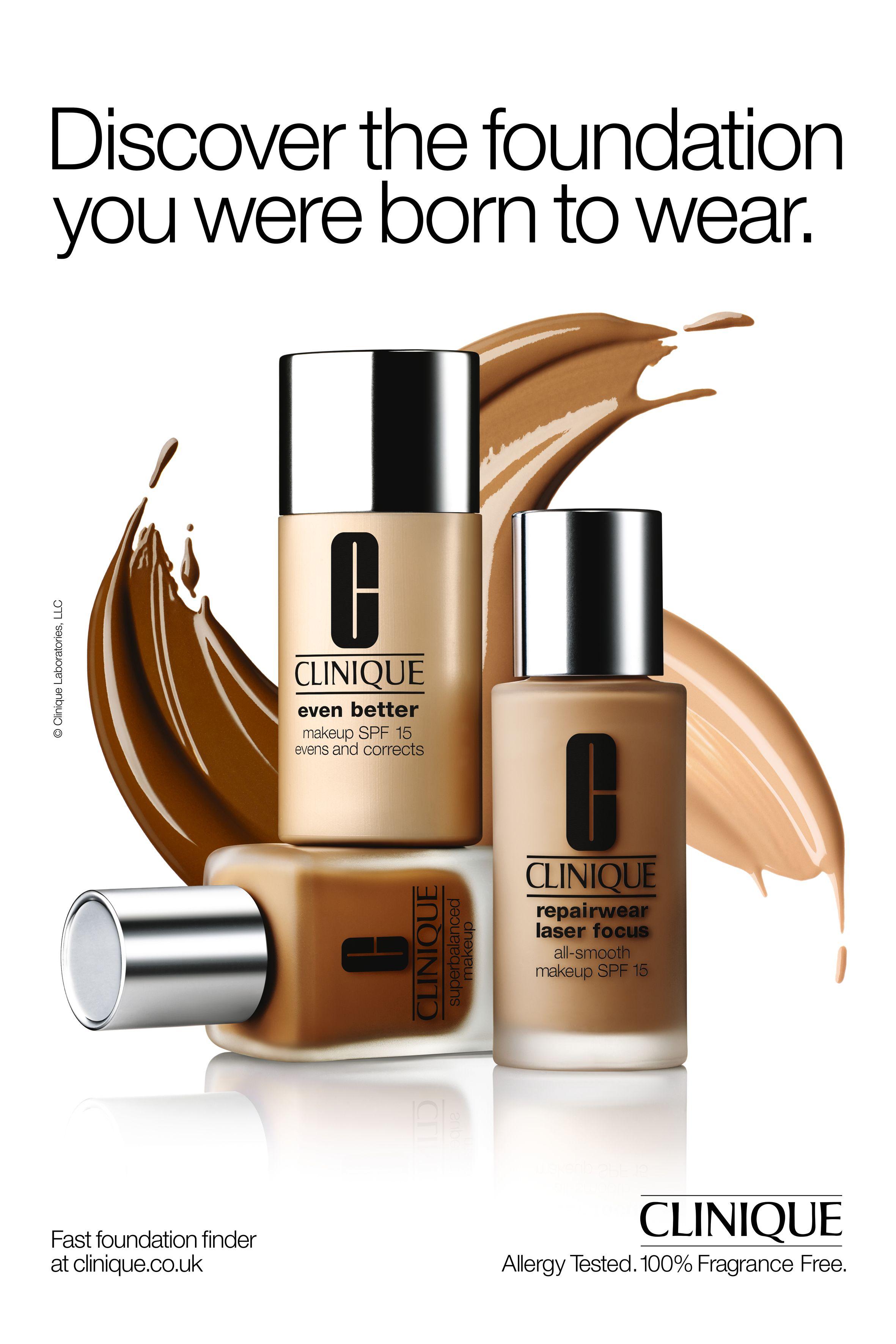 Foundation Cosmetics: Clinique Outdoor Advertising Image, Splashdown Create