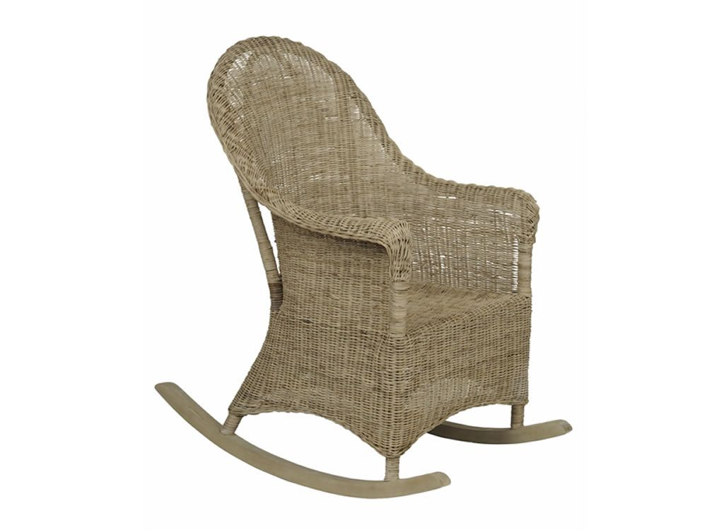 Grey Rattan Rocking Chair U2013 Close Weave Rattan TOBS Furniture