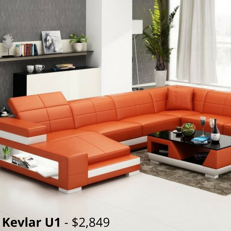 Kevlar U1 Leather Sofa Modular Lounge A Unique Lounge Set The